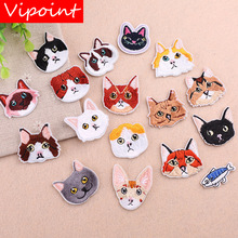 VIPOINT embroidery cats dogs patches animal badges applique for clothing YX-20