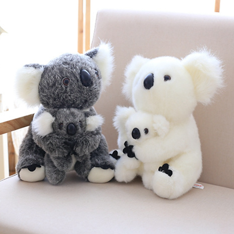 1 Pcs Koala Plush Toy Australia Animal Koala Doll Cute Animal Stuffed Soft Doll Mom Hold Kids Koala Toy High Quality Kids Toys тумба под телевизор tv 5
