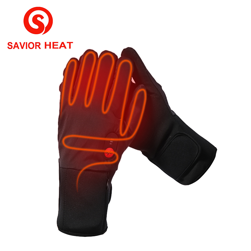 SAVIOR HEAT battery heated glove cycling riding electric ...