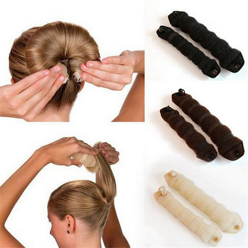 New 2pcs/set Fashion Hair accessory Styling Elegant Magic Style Bun Maker Hairstyle Updo DIY Styling Tool For boy and girl