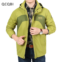 Здесь можно купить  Brand New Men Leisure Jacket Outerwear Windproof Male Hat Detachable Solid Loose Shape Coat Casual Mature Style M~3XL 8611-A