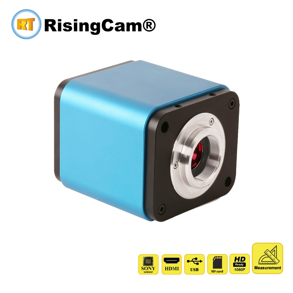 High sensitivity frame rate 1080P HDMI and USB microscope camera with measurement and SD card slot