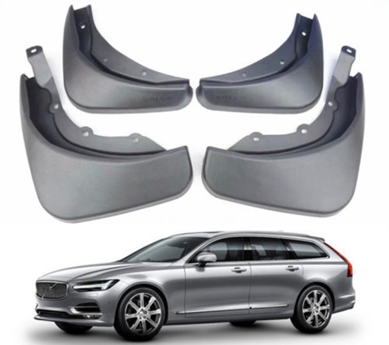 Car FRONT & REAR Splash Guards Mud Guards Mud Flaps Fit FOR 2016-2018 Volvo V90 fender 4pcs/set