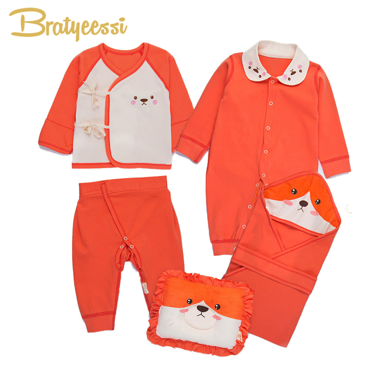 Cute Dog Baby Girl Clothes Soft Cotton Newborn Baby Boy Clothes Set Toddler Infant Clothing New Born Gift 6 Pcs/Set OPP Bag Pack