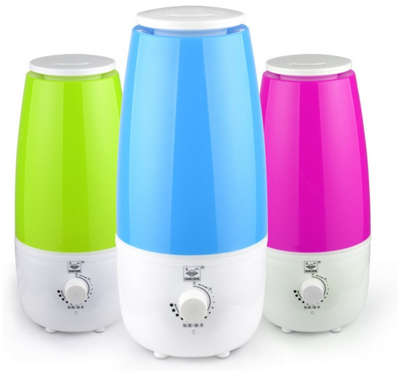 2.5L Water Bottle Pattern Humidifier Ultrasonic Aroma Essential Oil Diffuser Portable Mist Maker With Adjustable Mist