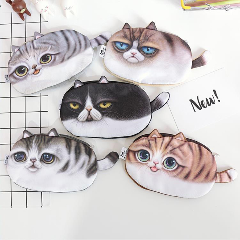 Kawaii Pencil Case School Supplies Stationery Gift Cute cat Large capacity Pencil Box Pencilcase Pencil Bag penalty 04857