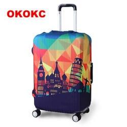 OKOKC толще путешествия чемодан защитная крышка для багажника чехол применяется к 19 ''-32'' чемодан Крышка совершенно эластичный