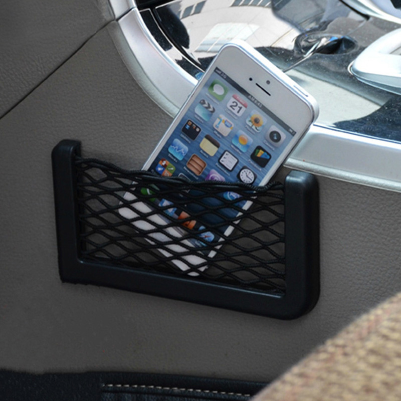 Universal Car Carrying Storage Bag Mesh Net Car Styling Accessories Phone Holder Pocket Car Organizer For Kia Honda Volvo