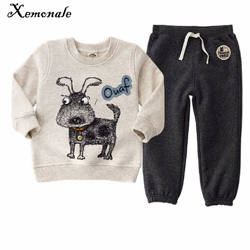 Xemonale Children Clothing Set Spring Autumn Baby Sports Cartoon Bear Costume Character Boy Pants+T-Shirt Clothes Tracksuit Sets