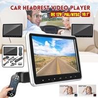 10,1 ''HD Автомобильный подголовник монитор DVD видеоплеер USB/SD/HDMI/IR/FM цифровой экран LCD касания кнопки игры дистанционное управление