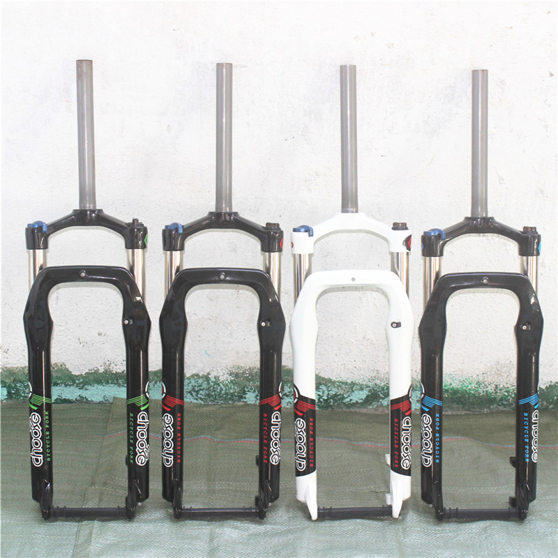 2018 CHOOSE P32 Fat Bike Fork 26 Bicycle Fork Bike Manual Control Suspension Fork Beach Bike Front fork Bike Parts 5 Color free shipping conhismotor ebike front fork dnm usd 6 fat bike air suspension downhill electric bicycle parts