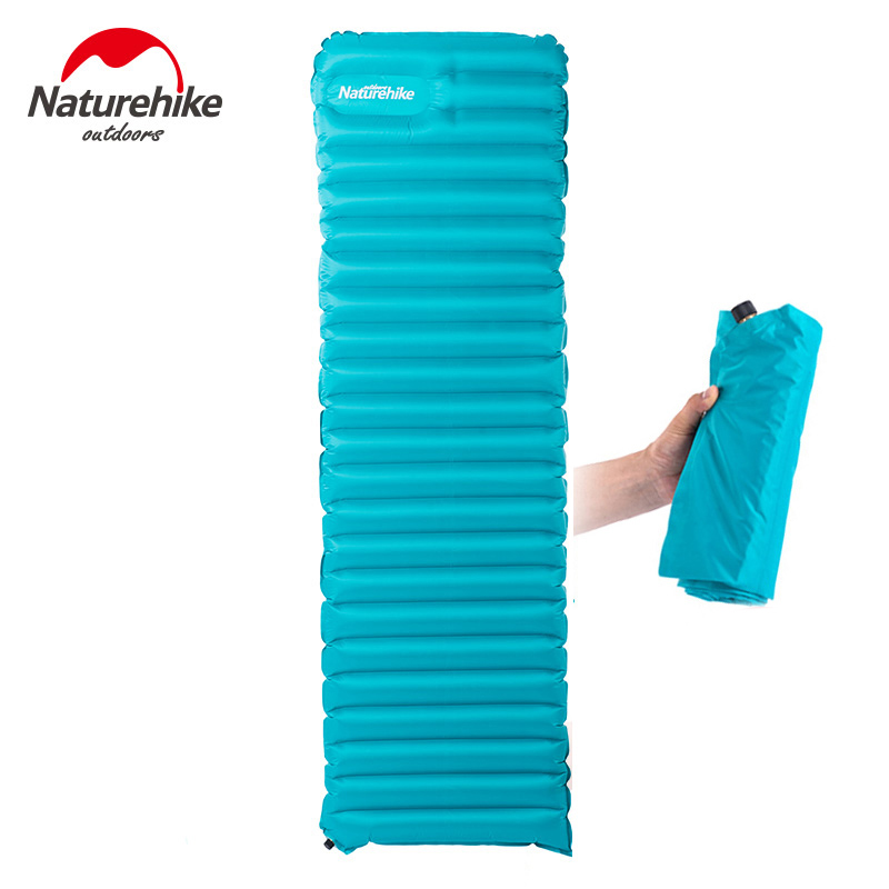 Naturehike Outdoor camping mat Inflatable Filling Air Moistureproof Sleeping Pad hiking Mattress Portable Pad