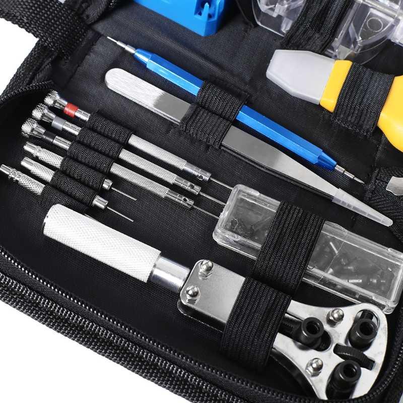 13 Pcs Horloge Reparatie Tool Horloge DIY Schroevendraaier Opener Tweezer Case Apparaat