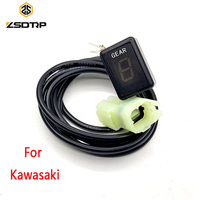 ZSDTRP Ecu Plug Mount 6 Speed Gear Display Indicator 1 6 Level Digital Gear Indicator For Kawasaki Motorcycle