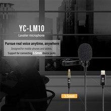 Viltrox YC-LM10 1.5 m Mikrofon Ses Video MIC Kayıt Yaka Stüdyosu Mikrofonun için Canon Nikon Sony Kamera telefonu iphone X 8