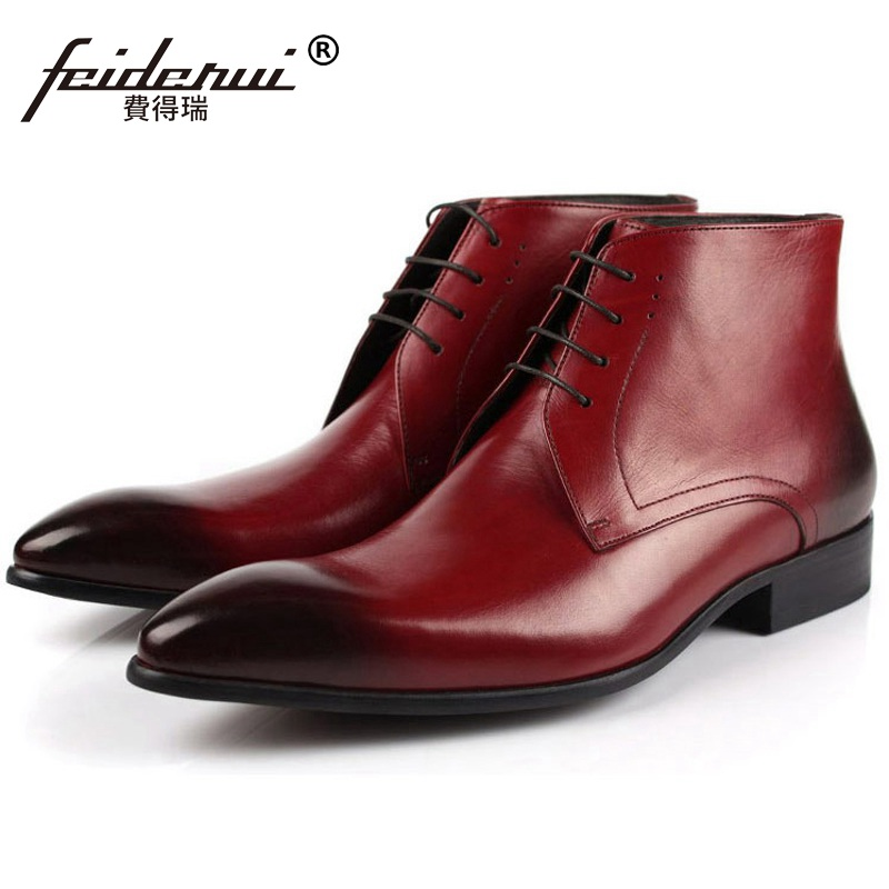 Italian Designer Man Handmade Luxury Brand Dress Shoes Genuine Leather Male Footwear Men's Cowboy Martin Ankle Boots ME73 цены онлайн