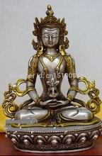 Shitou 0025 el Ratón sobre la imagen para ampliar Detalles sobre Budismo Tibetano Longevidad Buda estatua de bronce