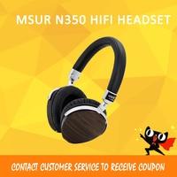 ASD Original MSUR N350 Noise Isolating HiFi Wooden Metal Headphone Headset Earphone With Beryllium Alloy Driver Portein Leather