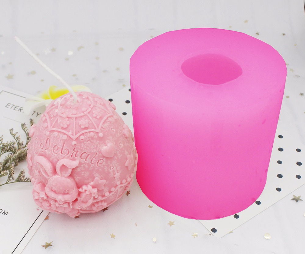 C1274 Easter Egg Cartoon Rabbit Diy Handmade Soap Silicone Mold Plaster Candle Mould Back To Search Resultshome & Garden