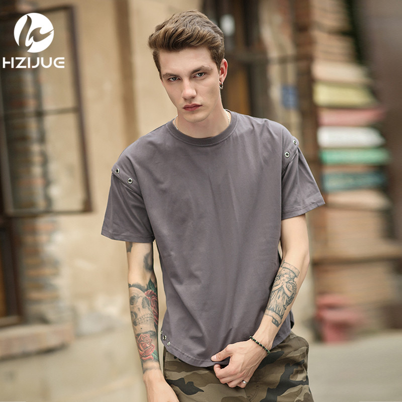 HZIJUE Hip Hop Streetwear T-shirts For Men Cotton T-Shirt Furcal Lower Hem  Design O-neck Short Sleeve 2018 Summer Casual Tops for sale in Pakistan 1b316822061e
