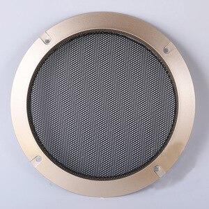 """Image 5 - Für 2 """"/3""""/4 """"/5""""/6,5 """"/8""""/10 """"zoll Audio Lautsprecher Umwandlung Net Abdeckung Dekorative Kreis Metall Mesh Grille # Golden + Schwarz"""
