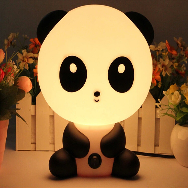 2018 NEW Night Lovely Sleeping Lamp Baby Room Panda/Rabbit/Dog/Bear Cartoon Light Kids Bed Lamp for Gifts EU/US Plug ALI88 lovely stitch night light cartoon