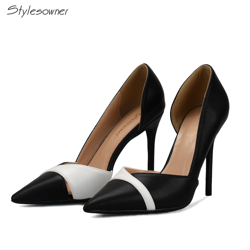 Stylesowner Spring Autumn Women Shoes High Heels Shoes Sexy Big Size Thin High Heels Women Shoes Fashion Ladies Party Shoes women high heels big