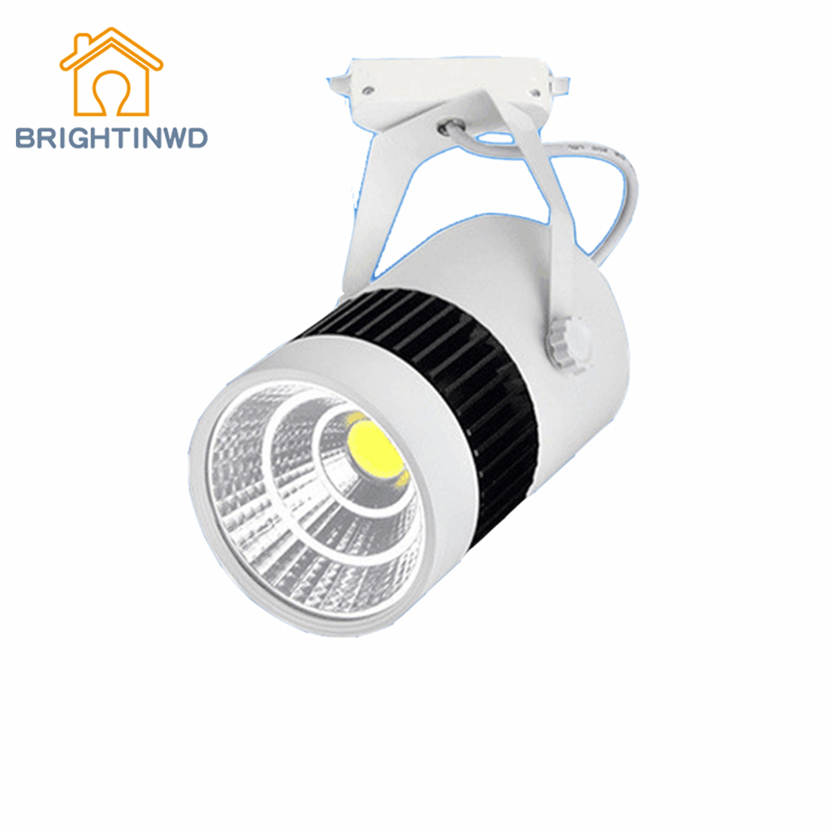 BRIGHTINWD LED Track Light 30W Clothing Store Window Display Light Jewelry Counter COB Track Light LED Spotlight led track light50wled exhibition hall cob track light to shoot the light clothing store to shoot the light window