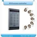 Envío libre sy-k13 a prueba de agua y sistema de control de acceso RFID 125 KHZ teclado numérico del teclado táctil (puerto wg26) + 10 unids keyfobs