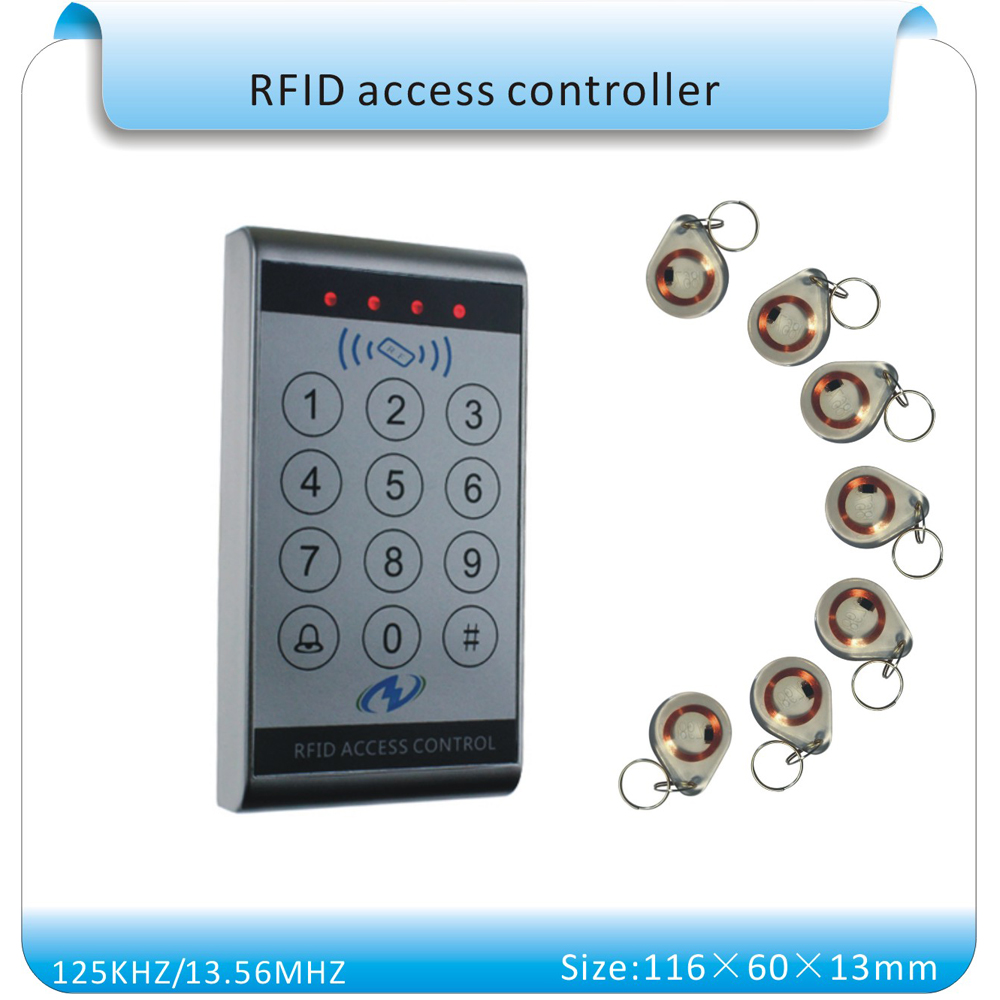 все цены на Free shipping sy-k13 waterproof & touch keyboard 125KHZ RFID  access control system number keyboard (wg26 port)+10pcs keyfobs