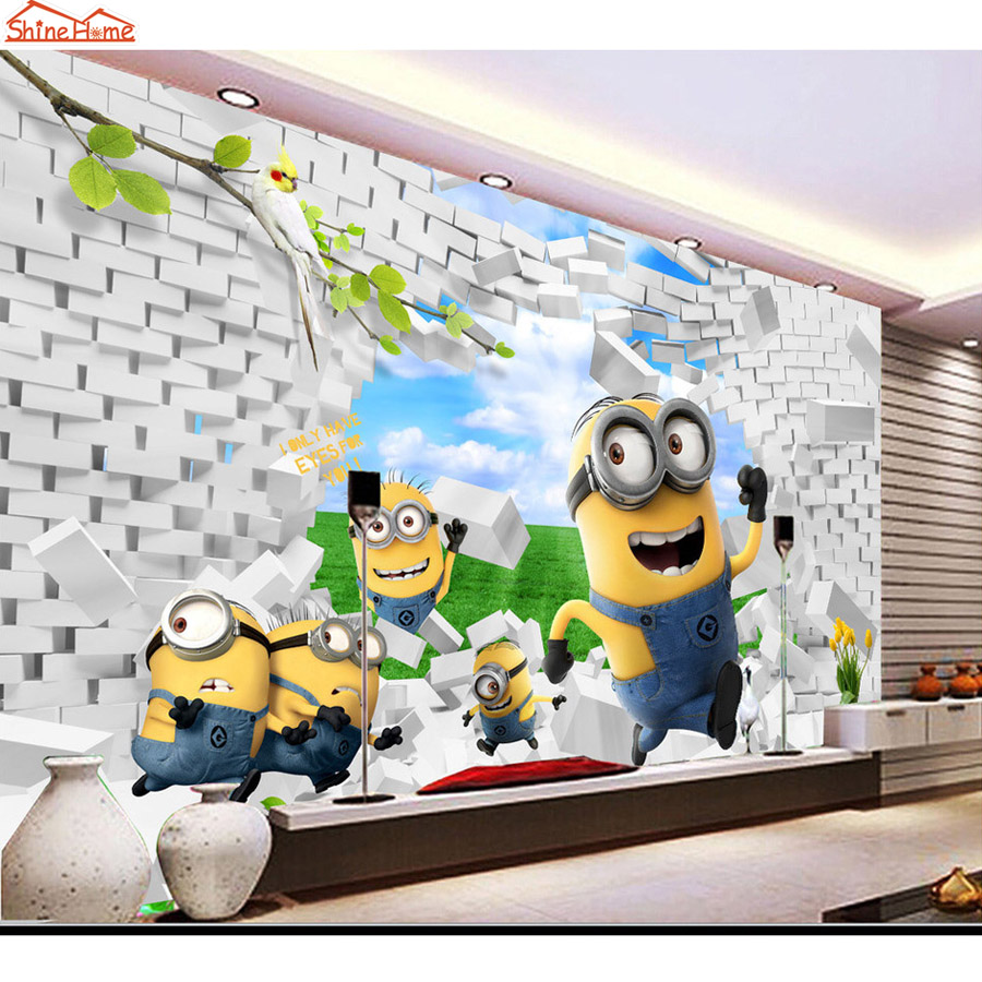 achetez en gros minion papier peint en ligne des. Black Bedroom Furniture Sets. Home Design Ideas