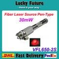 30 МВт Волоконно-Оптический Ручка Fusion Лазерная Fibra оптика Кабельный Тестер Визуальный Дефектоскоп 30 км VFL650-2S-30mW 10 шт./лот