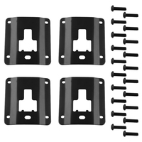 Car Accessories for F ord F150 Raptor Truck Bed Cargo Strap Bracket (2015 To Present) 4 Plates with Extra Anti Theft Screws