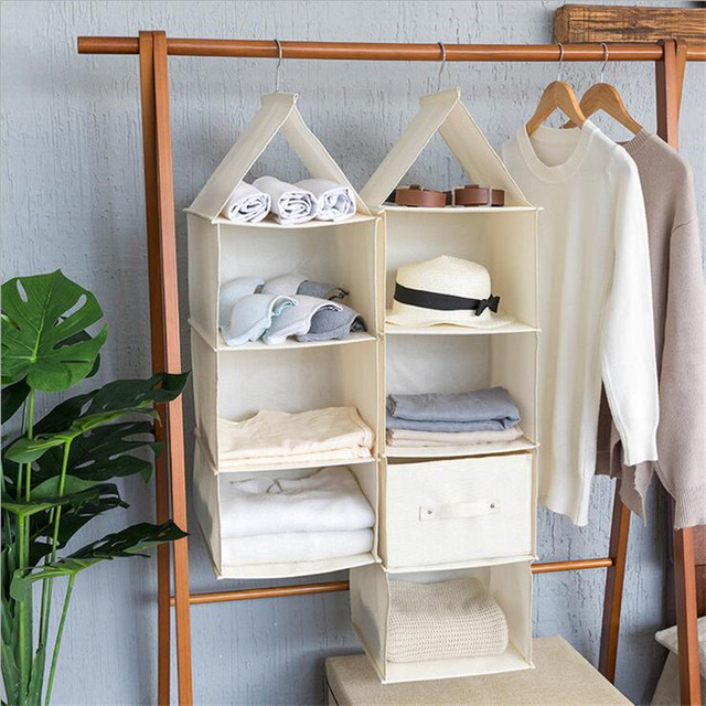 3521510a050b US $8.98 |Multipurpose Linen Hanging Storage Bag Wardrobe Door Hanging Bag  Storage Sundries Clothing Shoes Underwear Closet Organizer Bags-in Storage  ...
