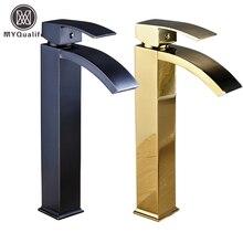 Бесплатная доставка Продвижение кран коснитесь одной ручкой прилавок для ванной квадратный умывальника туалет раковина смеситель кран