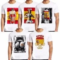 2016 Summer Spain Print T Shirt Men Casual Fitness Brand Short Sleeve T-Shirt Tees Cotton Harajuku O Neck Sexy Mens Tshirt Tops