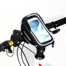 Kingsir Brand Mountain Bike Bicycle Cycling Bag Waterproof Touch Screen Mobile Phone Bag Handlebar Front Tube Sport Panniers