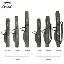 FDDL Fishing Bags 2/3 Layer Multifunctional Fishing Rod Reel Lure Canvas Pole Storage Case 120/130/ 150cm Carp Fishing Tackle(China)