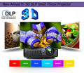 Envío gratis! 4500 lúmenes 240 W Osram lámpara UHP DLP 3D de tiro corto proyector