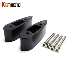 "KEMiMOTO YZF R25 R3 Motorcycle Mirror Riser Extenders Extension Adapter Adaptor for Yamaha YZF-R3 YZF-R25 2014-2017 1.25"" 32mm(China)"