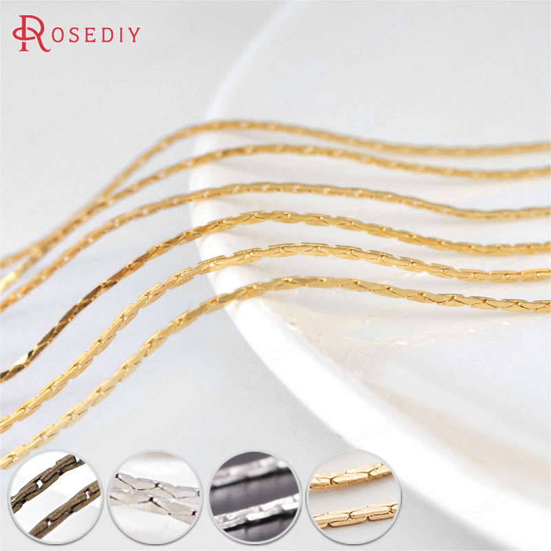 (12857)5 Meters 0.5MM or 0.8MM Copper Square Link Chains Gold or Silver Chains for Necklace making Jewelry Findings Accessories ned davis being right or making money page 5