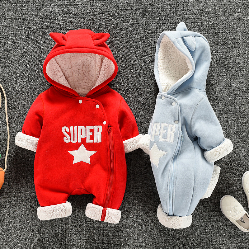 Cotton Newborn Baby Boys Girls Thick Romper Infant Winter One Pieces Cute Infant Clothes 0~12 Month