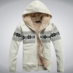ICPANS, зимний, плотный, флис, шерсть, мужской свитер, с капюшоном, зимний Кардиган, наши ушки, новая мода, хлопок, красный, синий, Размер M, L, XL, XXL