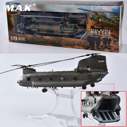 1/72 Boeing CH-47J Japanese Self-Defense Force Chinook Helicopter Battle Diecast Metal Airplane Model Toys with 2 Dolls for Gift