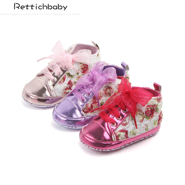 23b579e7a0d9 Baby Fahion First Walkers Infant Rose Flower Shoes Toddler Soft Soled Shoes  Kids Non-slip Shoes