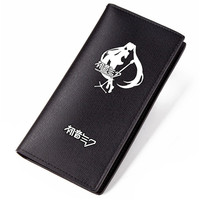 Long PU Purse Black Carteira Hatsune Miku Wallet For Girls Birthday Gifts Miku Short Wallets