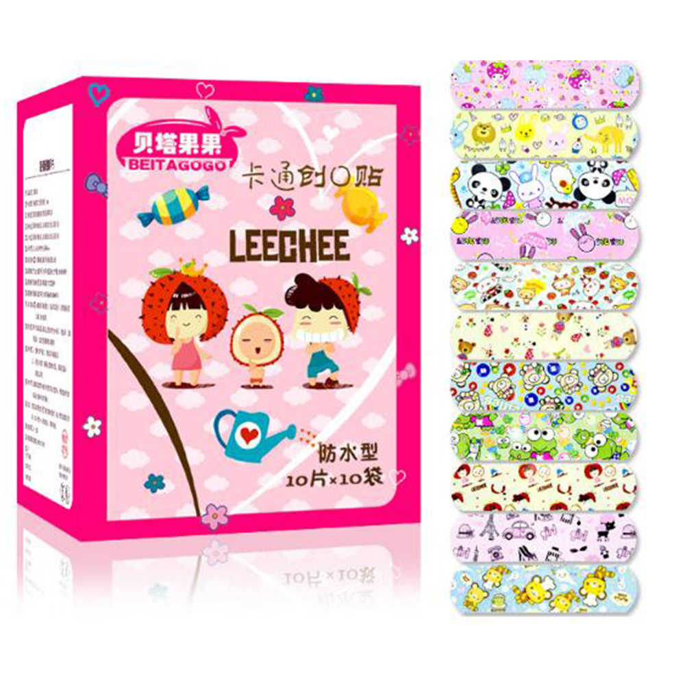 50Pcs Children Waterproof Wound Patch Bandage Cartoon Cute Band-Aid Adhesive Medical Band-aid  (without retail package) D056