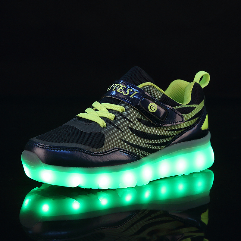 2017 New Children Shoes Hot Light Led luminous Shoes Boys Girls USB Charging Sport Shoes Casual Led Shoes Kids Glowing Sneakers