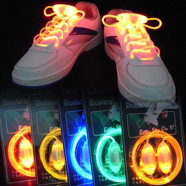 006e8b05ed952 10 Pairs Colorful LED Flash Light Up Shoe Laces Party Disco Shoes Strap  Glow Stick Shoelaces Multicolor Party Decoration New