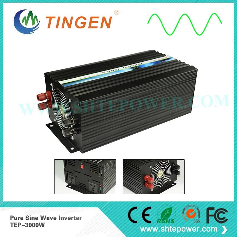 Off Grid Tie AC 220V 230V power inverter 3000W DC 12V/24V/48V input TEP-3000W Pure sine wave 110V 120V 110V output все цены
